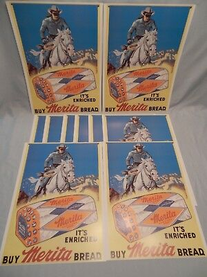 "MERITA BREAD THE LONE RANGER AD PRINT 11"" x 14"" - Lot of 50"
