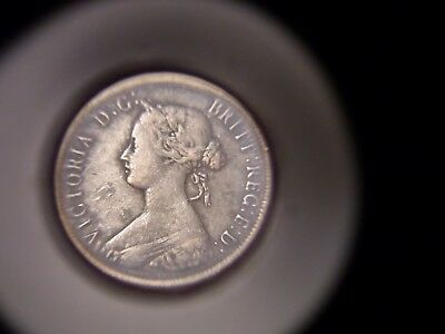 1864 New Brunswick Canada One Cent Error E Over F Rare & Hot Was $500