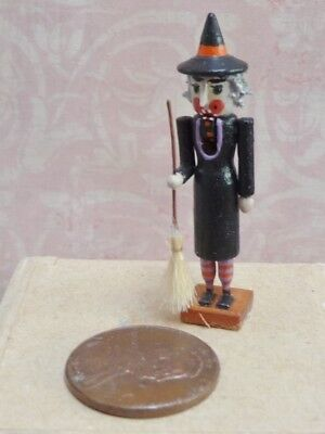 Lovely 1:12 Miniature Working Witch Nutcracker by Dianne Jones