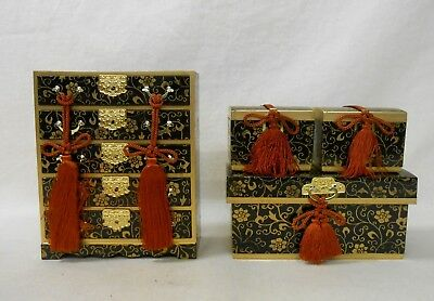 608 Japanese Chest of Drawers TANSU & Boxes NAGAMOCHI / Ornament for HINA Doll