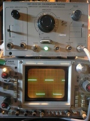 TEKTRONIX Calibrator TESTED!  0.2mV to 100V, 5mA current probe test & Amplifier