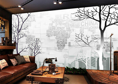 Many Tree Branches 3D Full Wall Mural Photo Wallpaper Printing Home Kids Decor