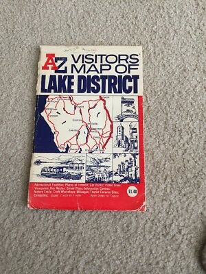 A-Z Visitors Map Of Lake District Good Condition