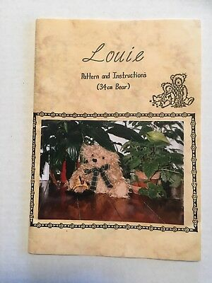 Teddy Bear pattern - Louie - pattern & instructions 34cm bear