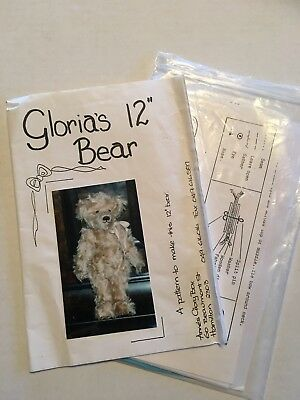 "Teddy Bear pattern - Gloria's Bear pattern & instructions 12"" bear"