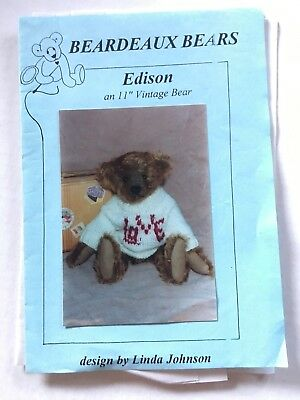 "Teddy Bear pattern - Edison - pattern & instruction 11""bear"
