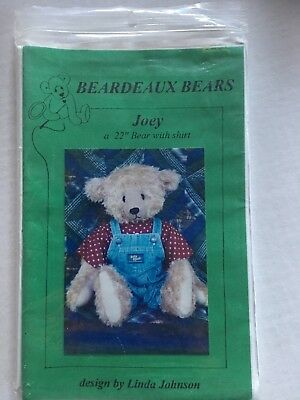 "Teddy Bear pattern - Joey - pattern & instructions for a 22"" bear"