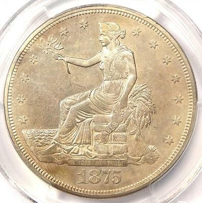 1875-CC Trade Silver Dollar T$1 - Certified PCGS Uncirculated Details (MS UNC)