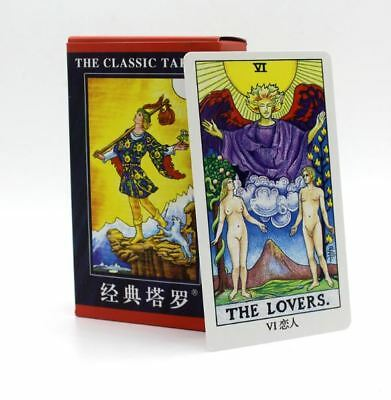 78Pcs Tarot Cards Smith Dragon Animal Classic Rider Waite Party Board Games