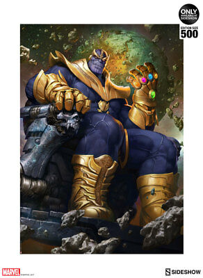 Thanos on Throne Variant Art Print by Sideshow Collectibles UNFRAMED Sold Out