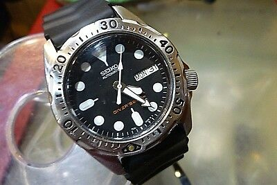 seiko divers 200m 7s26 0010 automatic 21j skx001 mid size 37mm