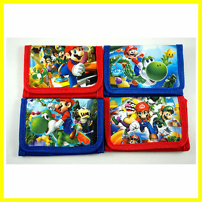 Super Mario Brothers Kids Boys Various Stocking Filler Wallet Purse Coins Bag