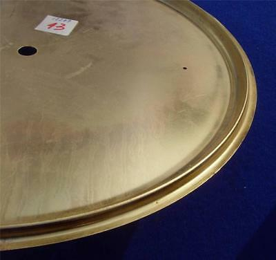 ref:14964  Spun brass Ansonia REGULATOR A wall  clock dial pan 320mm OD
