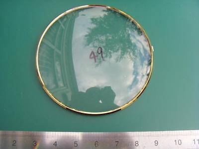 OS#49 1930'S Mantle Clock Part Bezel & Convex Glass max outer dia 159mm