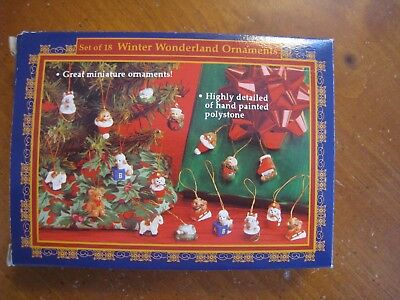 Winter Wonderland Miniature Christmas Ornaments Set of 18 NEW!