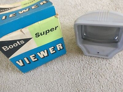 Vintage Slide Viewer Boots Super Colour Photo Grey Boxed Readymount Multi Holder