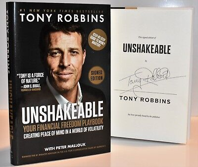 Unshakeable : Your Financial Freedom Playbook  SIGNED / AUTOGRAPHED Tony Robbins