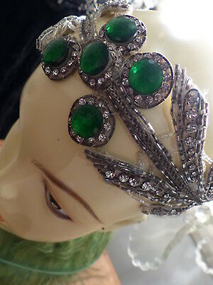 RARE EDWARDIAN - 1920s FRENCH - FLAPPER - ANTIQUE HEADPIECE