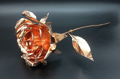 Handmade Authentic Copper Rose Roses Gift Art 7th Anniversary B2G1 Free