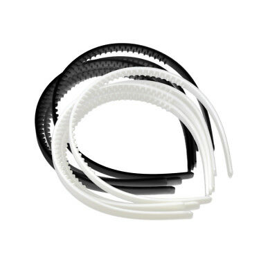 Lot 10pcs Black White Plain Women Plastic Hair Hoop Band Headbands DIY Girls