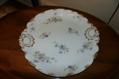 """GDA Limoges Floral Tray 13"""" Round"""