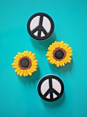 Garden Beach Clog Shoe Charm Button Accessories Wristband Peace Sign Sun Flower