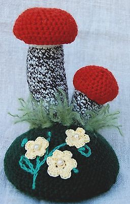 Pin Cushion mushrooms, great gift, crafts, housewarming gift,Mother Day gift