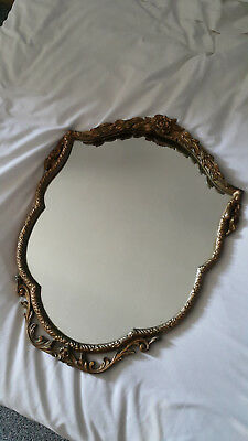 Vintage Astonea Mirror Gold Gilded Ornate Frame