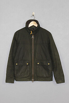 Mens Barbour Termon Wax Jacket Green Small AW 15