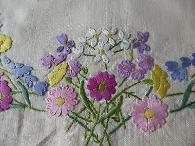 Vintage Hand Embroidered Tea Cozy/teapot Cover- Beautiful Embroidery