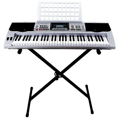 61 Key Music Digital Electronic Piano Keyboard LCD Electric Organ with Stand