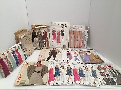 Lot Of 12 Mccalls Sewing Patterns Vintage Butterick Making History Mixed