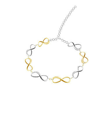Ladies All Over Silver Gold Plated Infinity Choker Party Wedding Bridal Necklace