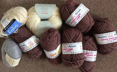 Job Lot Of Quality Wool Including Aran/Rowan Kidsilk/Sirdar Big Bamboo/Berroco