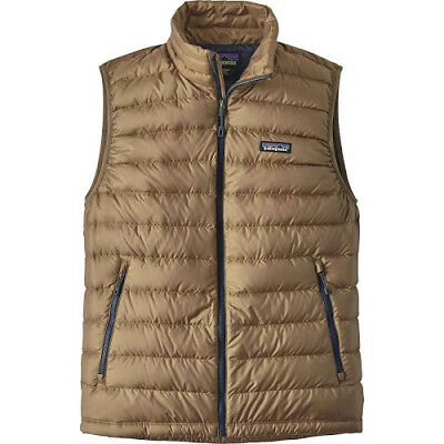 Patagonia Down Sweater Vest Mens NEW NWT Small Mojave Khaki Tan