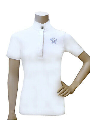 KINGSLAND Ladies Show Shirt, Turniershirt, SIENA, weiß, Gr. XL ( 42)