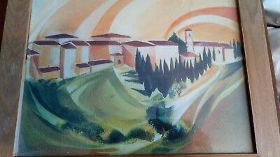 Two paintings of Tuscany by Italian artist