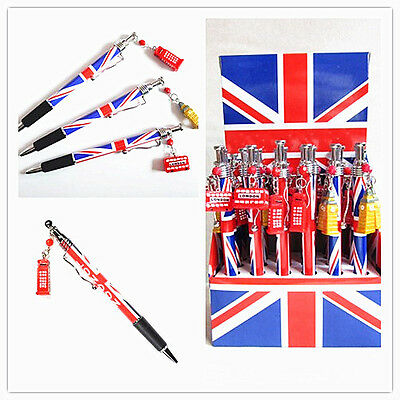 UNION JACK FLAG PENDANT ballpoint  PEN - SOUVENIR- LONDON- UK- stationery