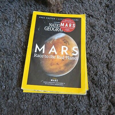 National Geographic Magazine November 2013 Mars Race To The Red Planet