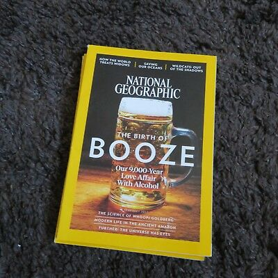 National Geographic Magazine February 2017 Love Alcohol - Saving Our Oceans