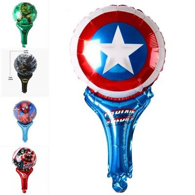5 Pack Of Super Hero Balloons Birthday Party Decoration Cartoon Batman Hulk
