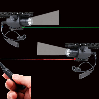 LED Flashlight+Green/Red Dot Laser Sight For Pistol Gun Combo CREE Q5 Tactics