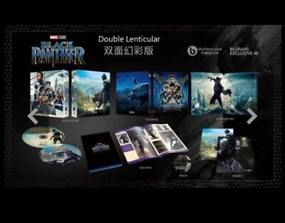 Black Panther Blufans Exclusive Double Lenticular 3D/2D Blu Ray Steelbook