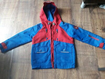 Boys Tu Summer Autumn Jacket, red and blue, aged 6 years