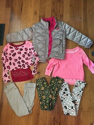 Girls Fall Winter Lot Size 7 8 North Face coat Lularoe Justice shirts leggings