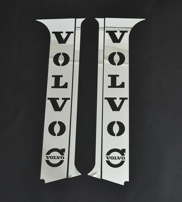 Set of 4 Stainless Steel Door Pillar Covers/Panels for Volvo FH4 Chrome Euro 6