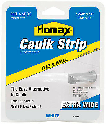 Homax Products/Ppg 34040 11-Ft. White Wide Tub & Wall Caulkstrip