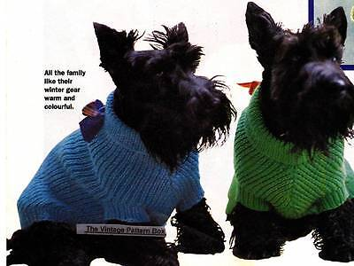 DOG COAT in 3 sizes / 8ply or D.K. - COPY dog coat knitting pattern