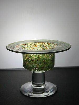 Lovely Green And Clear Crystal Candle Holder