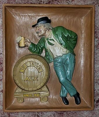 Neuweiler Ale Beer Since 1891 Advertising Plaque Sign